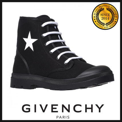 GIVENCHY Star Straight Tip Street Style Boots