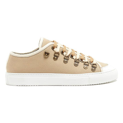 J W ANDERSON Low-top canvas trainers beige