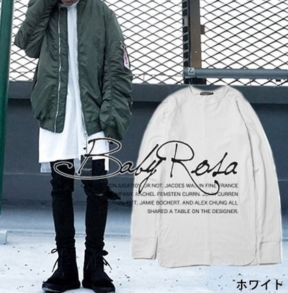 Shirts Pullovers Unisex Street Style Long Sleeves Plain Shirts 3