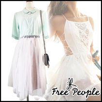 Free People Street Style Medium Short Sleeves Elegant Style