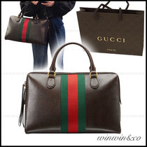 GUCCI A4 Leather Elegant Style Boston & Duffles