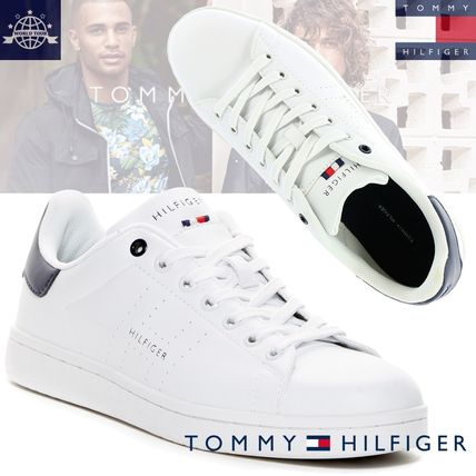 Just before brand leather sneaker