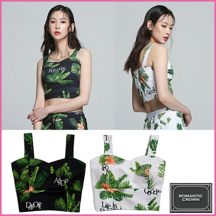 Tropical Patterns Casual Style Tanks & Camisoles