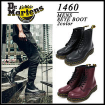 Dr Martens Street Style Plain Leather Engineer Boots