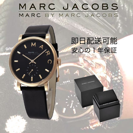 Marc by Marc Jacobs Leather Round Quartz Watches Marc Jacobs Watches