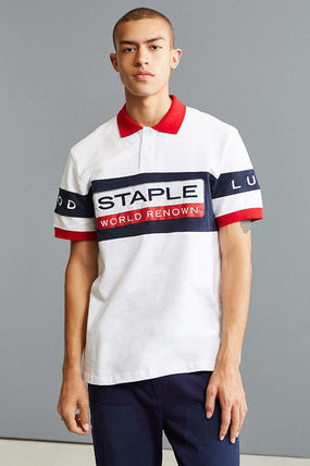 Pullovers Street Style Cotton Short Sleeves Polos