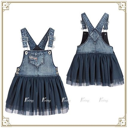 DIESEL blue denim Pinafore jumper skirt