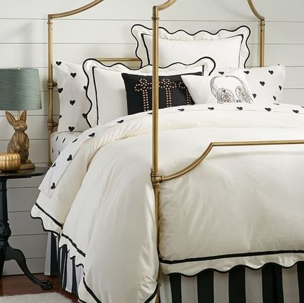 Pottery Barn Plain Comforter Covers Black & White Duvet Covers