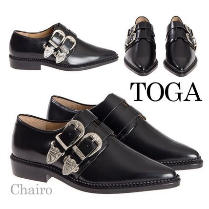 Buckled Leather Oxford shoes