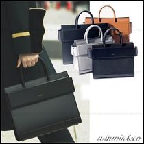 GIVENCHY HORIZON Leather Office Style Handbags