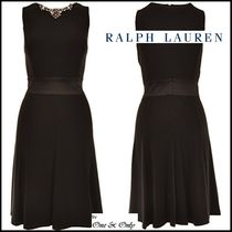 Ralph Lauren Sleeveless Flared Plain Medium Party Dresses