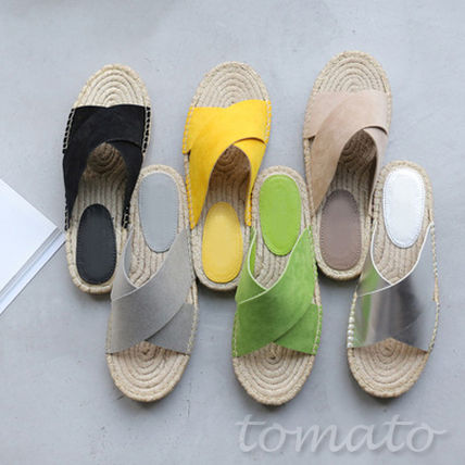 Wide cross band Espadrilles Sandals J