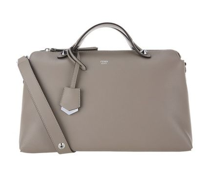 6e382aab6493 ... italy fendi handbags by the way large boston bag tortora grey c03ee  fd3d6