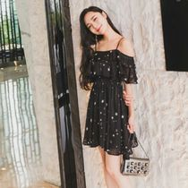 Star Flared Party Style Dresses