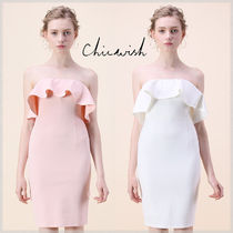 Chicwish Short Tight Sleeveless Plain Party Dresses