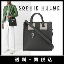 SOPHIE HULME Casual Style Calfskin Totes