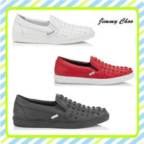Jimmy Choo Star Plain Leather Loafers & Slip-ons