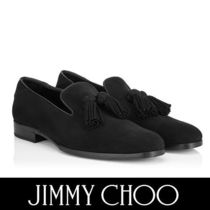 Jimmy Choo Plain Toe Loafers Suede Tassel Plain Loafers & Slip-ons