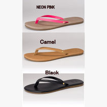 Gorjana Plain Leather Flip Flops Flat Sandals