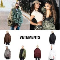 VETEMENTS Unisex Collaboration MA-1 Bomber Jackets