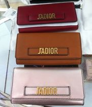 Christian Dior JADIOR Leather Long Wallets