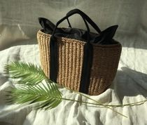 Casual Style Straw Bags