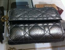 Christian Dior Leather Folding Wallet Folding Wallets