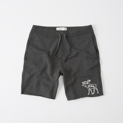 Abercrombie Moose Embroidery Sweat Shorts - Mark H. Gray