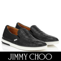 Jimmy Choo Plain Toe Street Style Plain Leather Loafers & Slip-ons