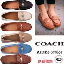 Coach Moccasin Casual Style Plain Leather Loafer Pumps & Mules