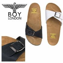 BOY LONDON Casual Style Faux Fur Street Style Plain Shower Shoes