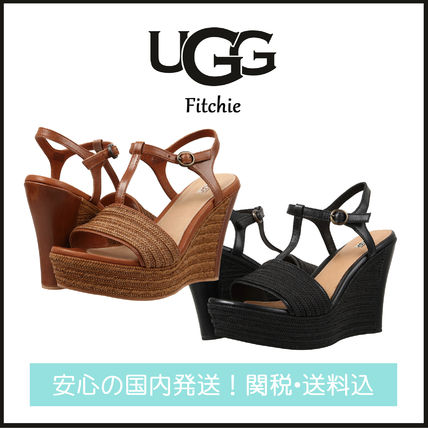 Open Toe Plain Leather Elegant Style