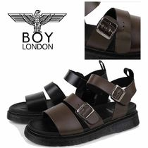 BOY LONDON Faux Fur Street Style Plain Sport Sandals Sandals
