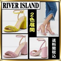 River Island Open Toe Plain Block Heels Party Style Party Shoes