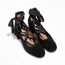 & Other Stories Casual Style Suede Plain Block Heels