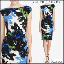 Ralph Lauren Flower Patterns Tight Sleeveless Boat Neck Medium