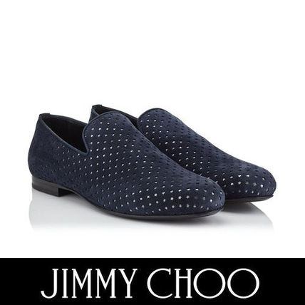 Jimmy Choo Star Plain Toe Suede Plain Loafers & Slip-ons