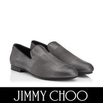 Jimmy Choo Stripes Plain Toe Suede Plain Loafers & Slip-ons