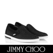 Jimmy Choo Plain Toe Street Style Plain Leather Python