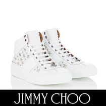 Jimmy Choo Star Mountain Boots Street Style Plain Leather Sneakers