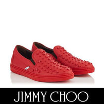 Jimmy Choo Star Plain Toe Street Style Plain Leather Loafers & Slip-ons