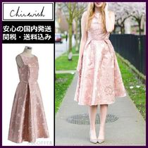 Chicwish Flower Patterns Sleeveless Medium Party Dresses