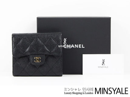 2df15778d4f8 ... CHANEL Coin Purses Small wallet caviar skin London department store new  item ...