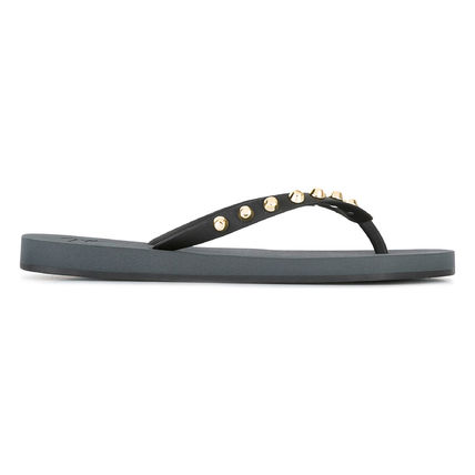 GIUSEPPE ZANOTTI studded flip flops decorated