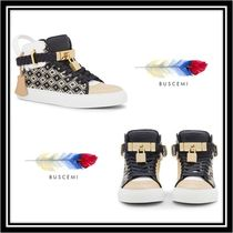 BUSCEMI Casual Style Street Style Leather Low-Top Sneakers