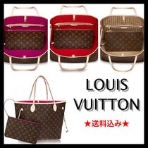 Louis Vuitton NEVERFULL Monogram A4 Leather Totes