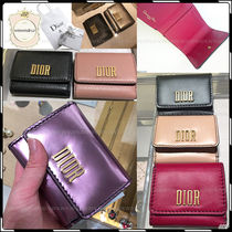 Christian Dior Plain Folding Wallets