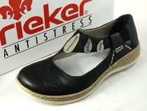 rieker Round Toe Casual Style Leather Slip-On Shoes
