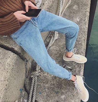 Spring-Summer Solid Color Jeans