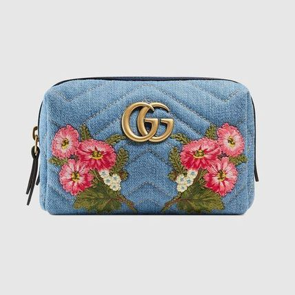 Gucci Pouches Cosmetic Bags Flower Patterns Cambus